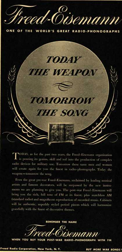 Freed-Eisemann's Radio – Today the Weapon... Tomorrow the Song (1944)