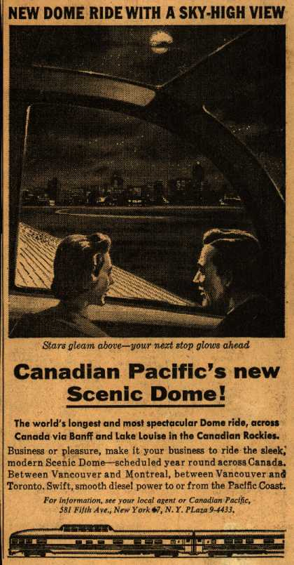 Canadian Pacific's Scenic Dome – Canadian Pacific's new Scenic Dome (1954)