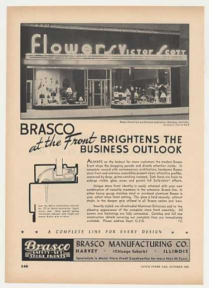 Victor Scott Flowers Store Winnipeg MB Brasco (1952)