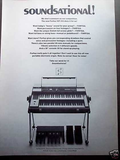 Farfisa Vip 223 Keyboard Organ Music (1972)