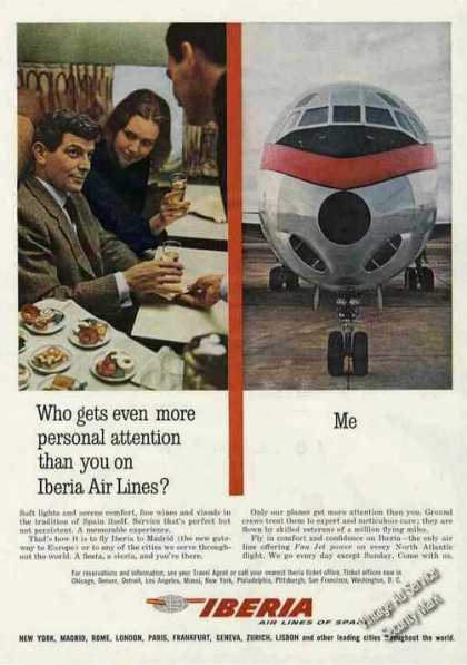 Iberia Air Lines of Spain Personal Attention (1962)