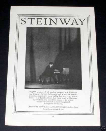 Steinway Pianos Played By Liszt (1919)