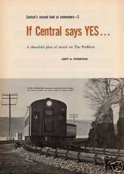 """If Central Says Yes..."" Article/n.y. Central (1965)"