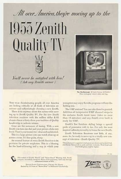 '52 Zenith Quality Marlborough TV Television (1953)