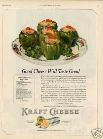 Kraft Cheese Ad &quot;Good Cheese Will... (1923)