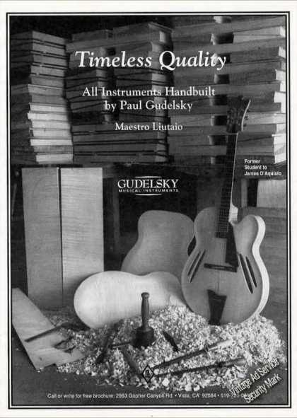 "Handbuilt Gudelsky Guitars ""Timeless Quality"" (1994)"
