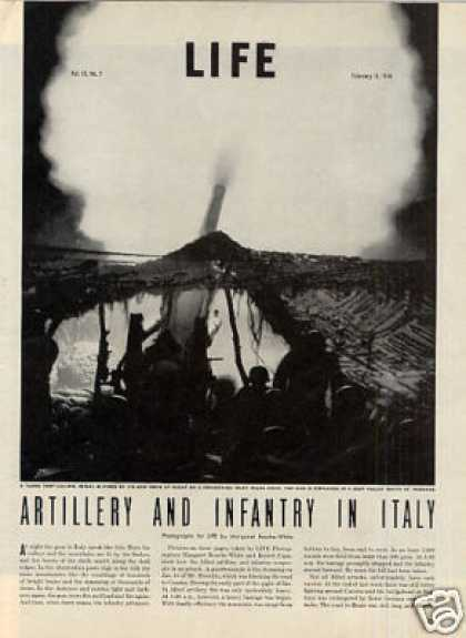 """Artillery and Infantry In Italy"" Article (1944)"