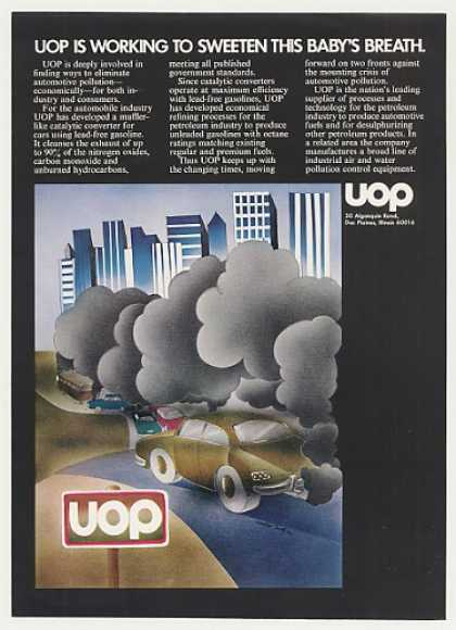 UOP Auto Pollution Isadore Seltzer art (1971)