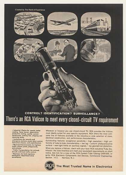 RCA Vidicon Electron Tube Closed-Circuit TV (1965)