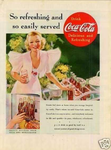 "Coca-cola Color Ad ""So Refreshing... (1937)"