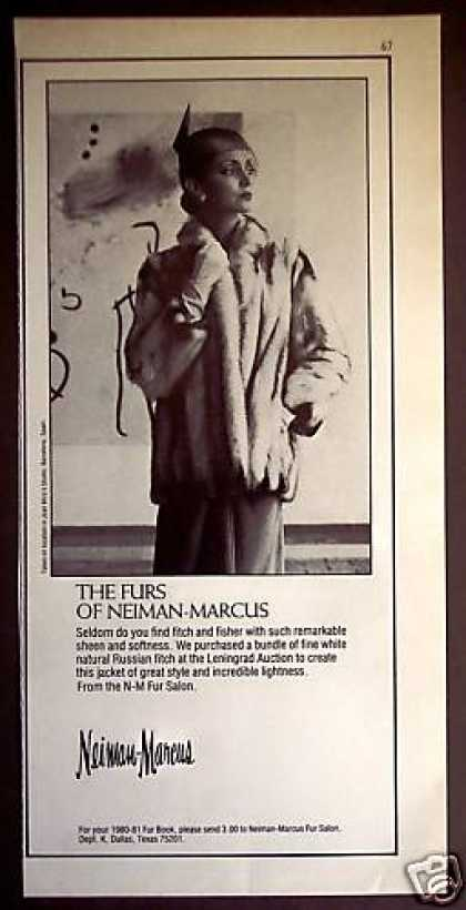 Russian Fitch Fur Jacket Photo Neiman Marcus (1980)