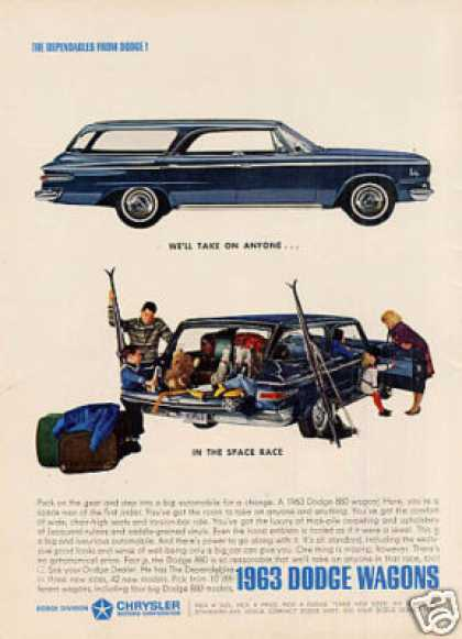 "Dodge Wagon Ad ""We'll Take On Anyone... (1963)"
