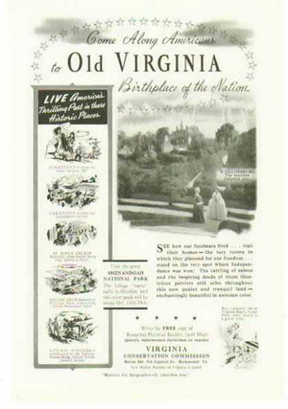 Virginia Travel – Williamsburg, Jamestown, Yorktown (1941)
