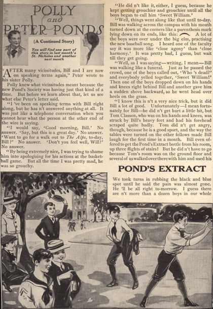 Pond's Extract Co.'s Pond's Extract – Polly and Peter Ponds (1915)