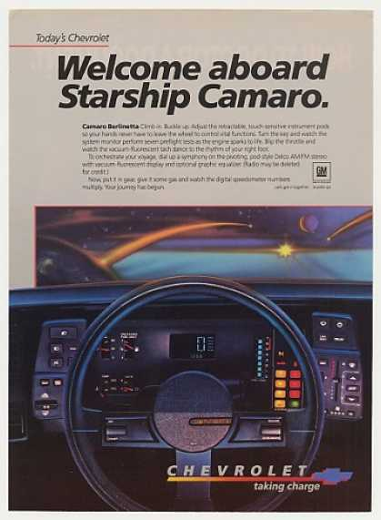 Chevy Camaro Berlinetta Starship Dashboard (1984)