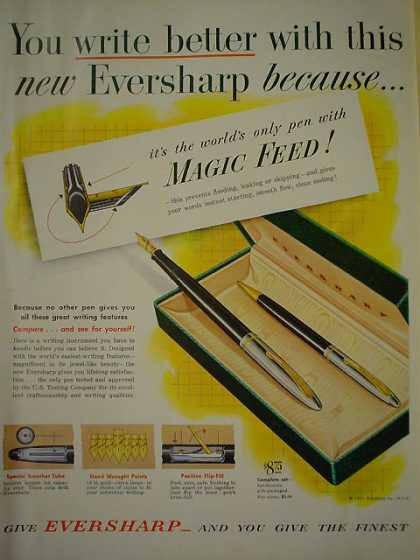 Eversharp Magic Feed Pen You write better (1950)