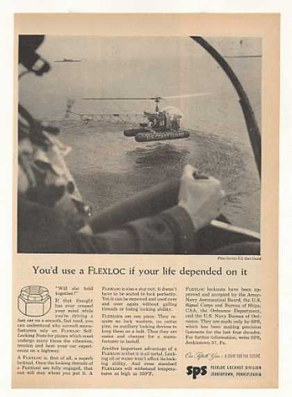 US Coast Guard Helicopter Flexloc Nuts Photo (1953)