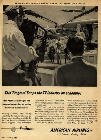 "American Airline's Airfreight – This ""Program"" Keeps the TV Industry on schedule (1953)"