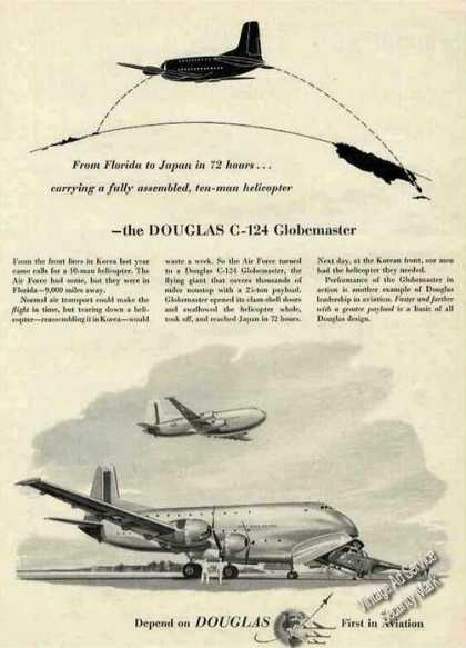 "Douglas C-124 Globemaster ""Helicopter To Japan"" (1953)"