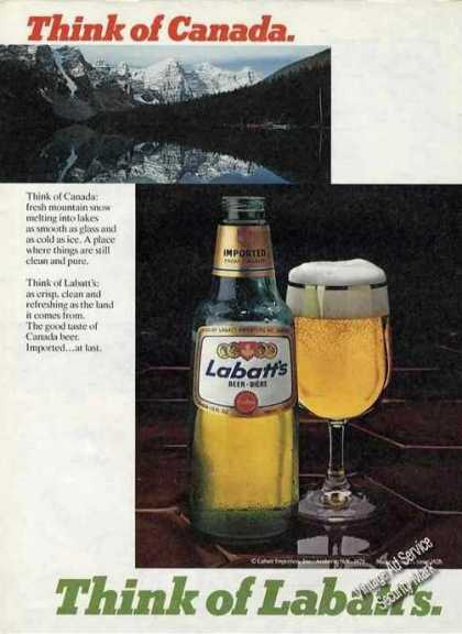 Think of Canada Think of Labatt's Beer (1980)
