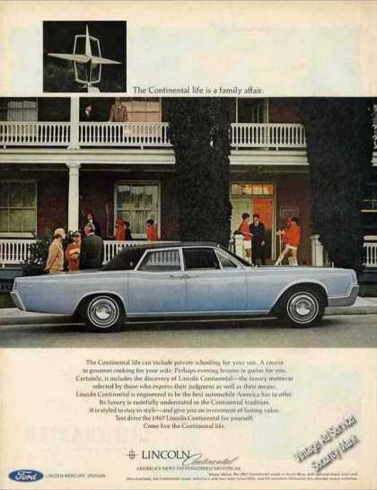 Blue Lincoln Continental Nice Car (1967)