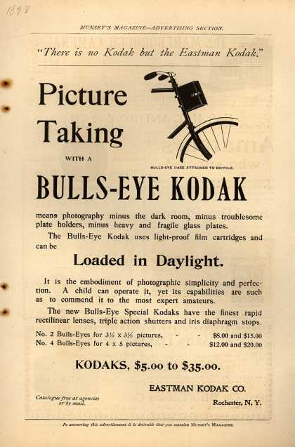 Kodak&#8217;s Bulls-Eye camera &#8211; Picture Taking with a BULLS-EYE KODAK (1898)