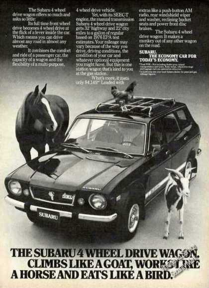 Subaru 4 Wheel Drive Wagon With Animals (1976)