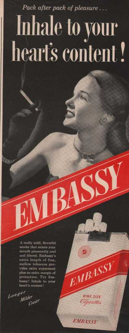 Embassy King Size Cigarette (1949)