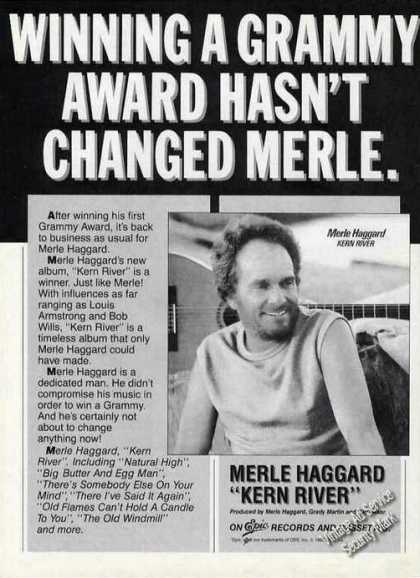"Merle Haggard Photo ""Kern River"" Album (1985)"