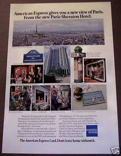 American Express Card Paris Hotel Travel (1975)