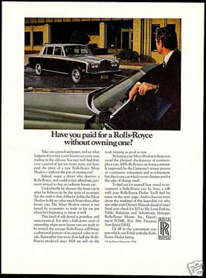 Rolls Royce Silver Shadow Car Investment (1974)