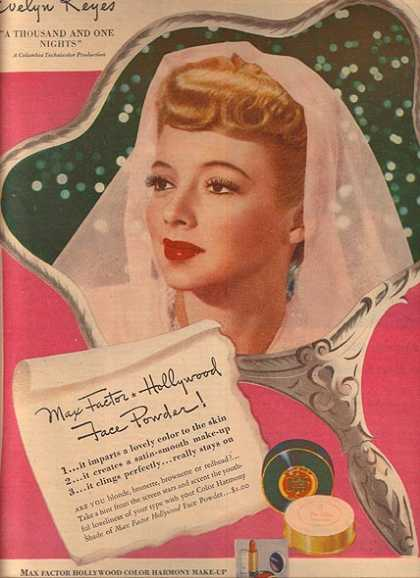 Max Factor Hollywood Face Powder – Evelyn Keyes (1945)