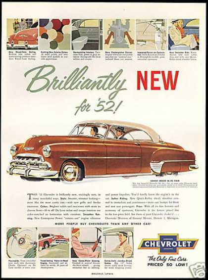 Chevrolet Bel Air Two Tone Vintage Print Car (1952)