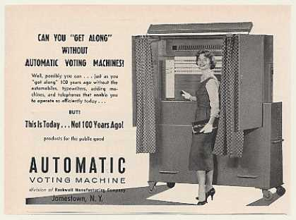Automatic Voting Machine Photo (1960)