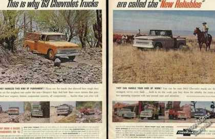 Chevrolet Trucks Multiple Color Photos (1963)