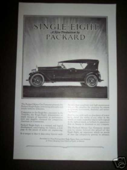 Original New Single Eight Packard Motor Car (1923)