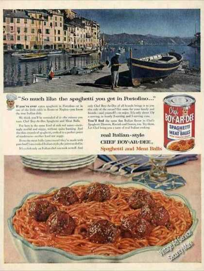 Portofino Italy Photo Chef Boy-ar-dee Spaghetti (1956)