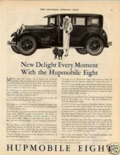 "Hupmobile Eight Car Ad ""New Delight Every... (1925)"