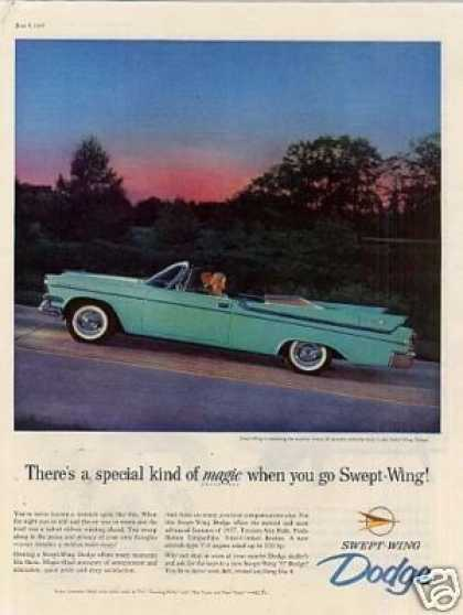 Dodge Swept-wing Convertible Car (1957)
