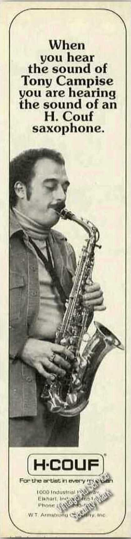 Tony Campise Photo H. Couf Saxophone (1979)