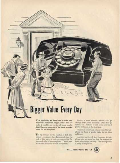 Bell Telephone Dial Classic Phone Ad T (1949)