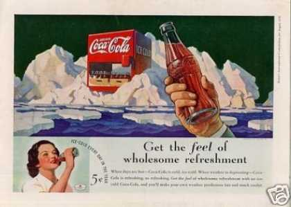 "Coca-cola Color Ad ""Get the Feel Of... (1936)"