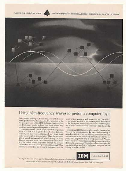 '58 IBM Yorktown High-Frequency Waves Computer Logic (1958)