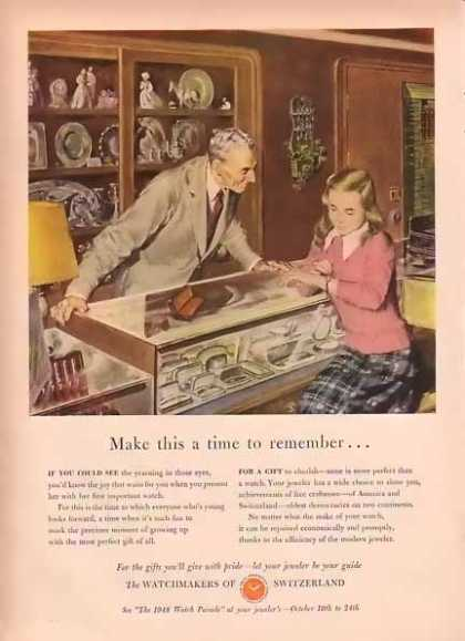 Swiss Federation of Watch Manufactures – Time to Remember (1948)