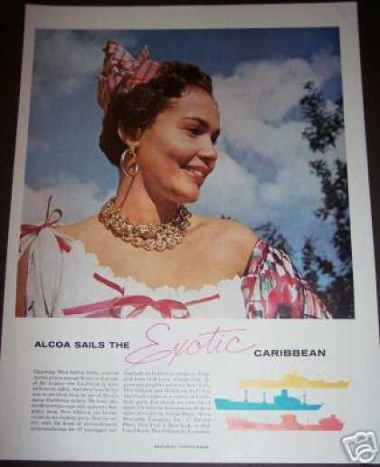 Original Exotic Caribbean Cruise Ship (1958)
