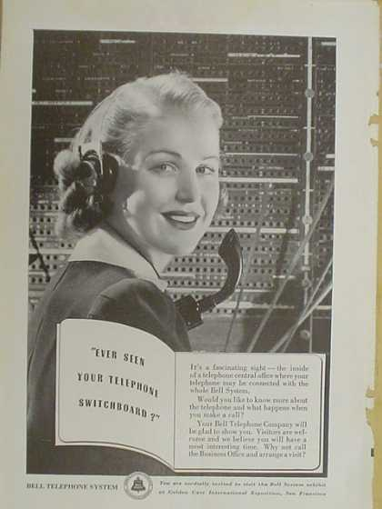 Bell Telephone System. Ever seen your telephone switchboard? (1939)