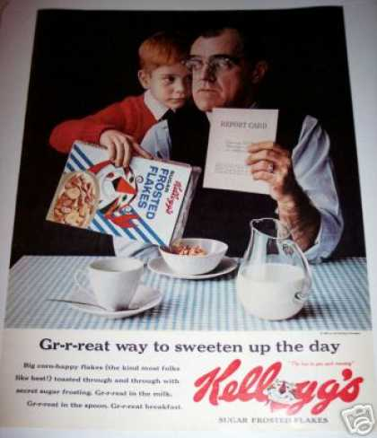 Tony Tiger Report Card Kellogg's Frosted Flakes (1963)