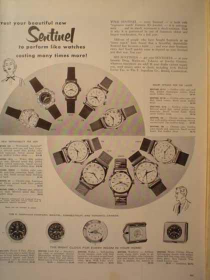 Sentinel Watches Trust your Sentinel (1955)