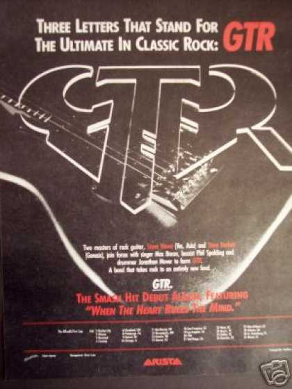 Gtr Debut Record Album On Arista Promo (1986)