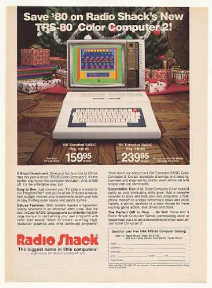 Radio Shack TRS-80 Color Computer 2 (1983)